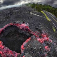 Volcanic land mass at Kalani (Big Island of Hawaii)
