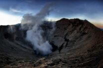 Walking on the rim of an active volcano!
